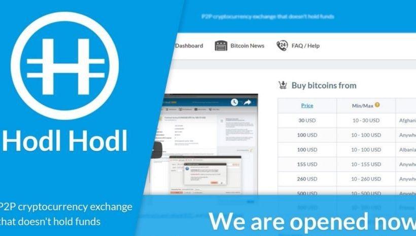 Криптовалютная биржа Hodl Hodl запущена в режиме бета-версии