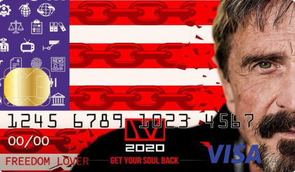 Джон Макафи анонсировал собственную дебетовую криптовалютную карту Visa