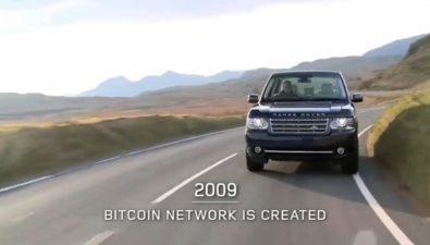 По версии Land Rover, ключевым событием 2009 года стало появление биткоина