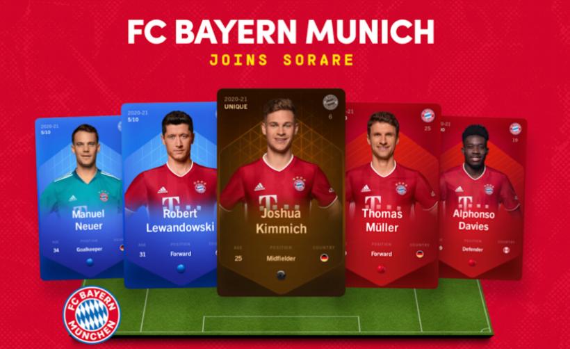 Мюнхенская Бавария присоединилась к блокчейну Sorare
