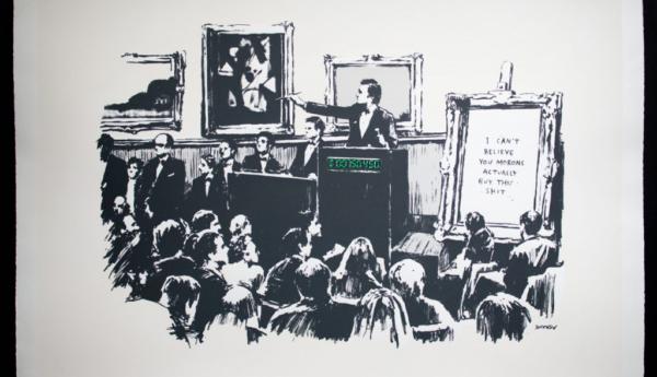 Оригинал картины художника Banksy «Morons» токенизировали в NFT и сожгли
